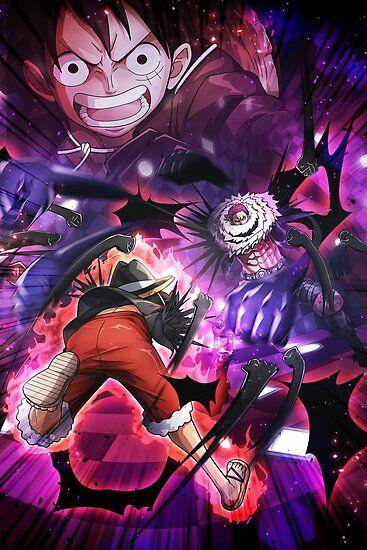 Luffy Vs Katakuri One Piece Poster Manga Anime One Piece One Piece Manga One Piece Luffy