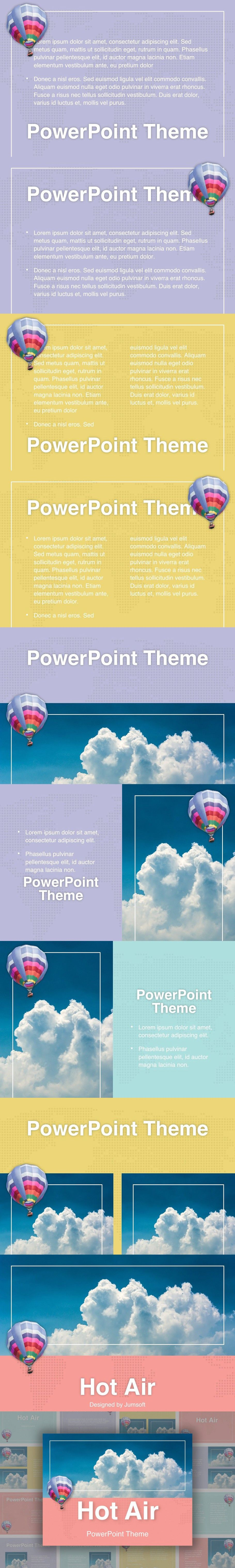 Hot Air PowerPoint Theme Powerpoint themes, Powerpoint