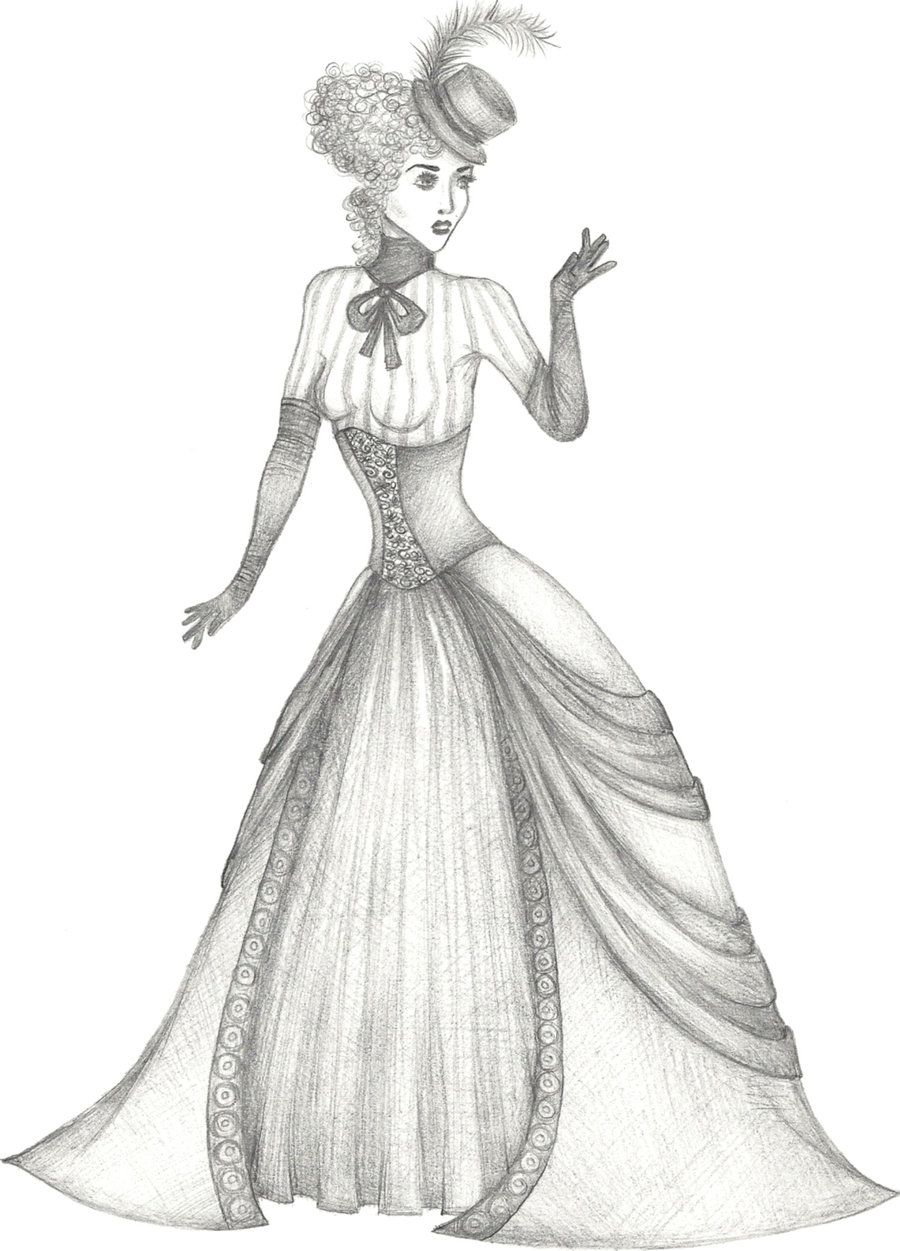Coloring Pages of Victorian Ladies | How Draw Victorian People ...