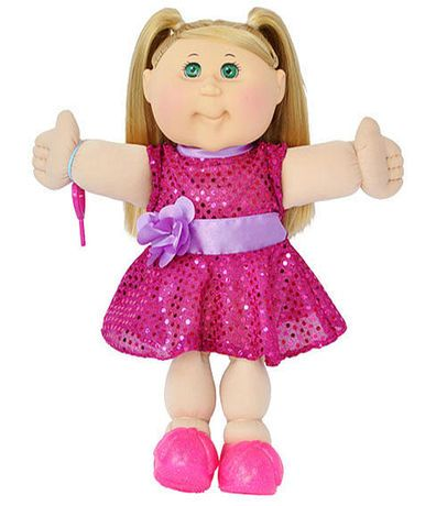 Cabbage Patch Kids 14 Inch Doll Blonde Girl With Straight Hair Cabbage Patch Kids Cabbage Patch Cabbage Patch Dolls