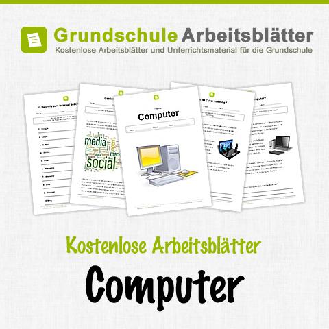 Kostenlose Arbeitsblätter und Unterrichtsmaterial für den Sachunterricht zum Thema Computer in der Grundschule.