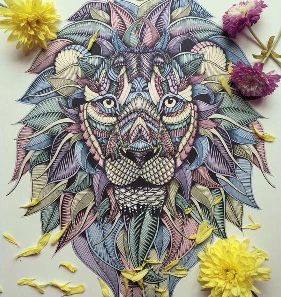 Leon Colores Art Hippie Art Charcoal Art