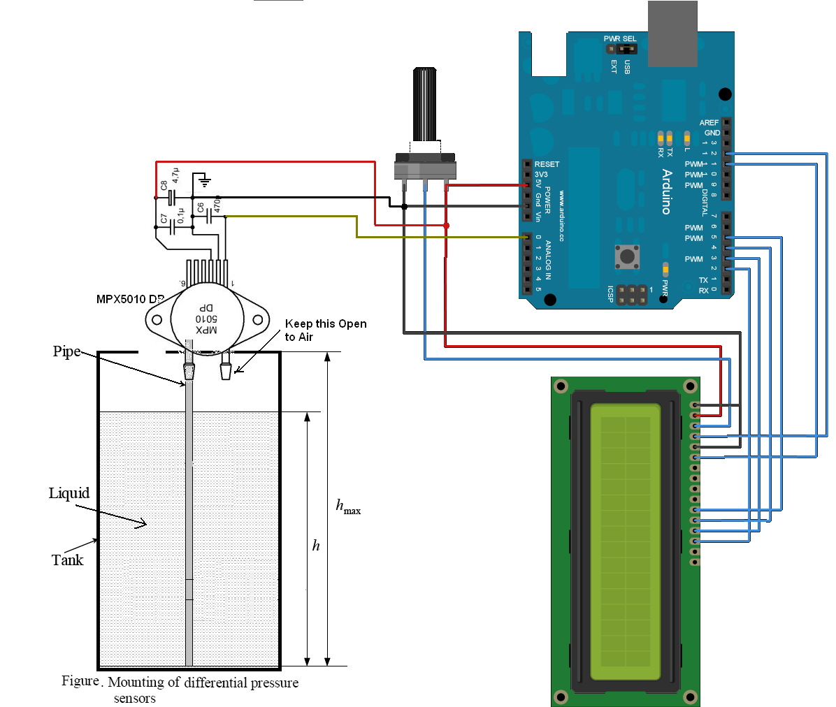 Water Level Measurement Using Arduino Electronica Pinterest Simple Automatic Controller Circuit
