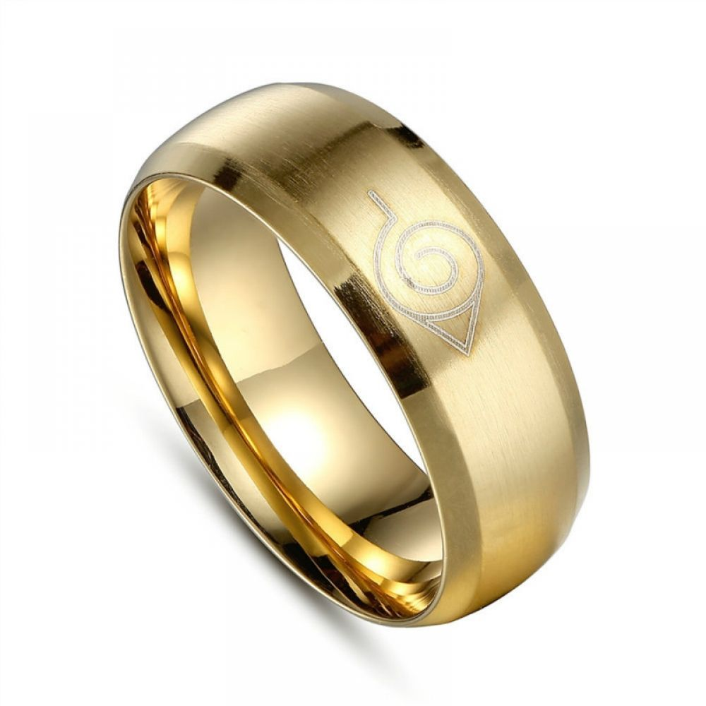 Anime Ring Naruto 50 Off Today Free Shipping Rings For Men Gold Color Ring Naruto Merchandise