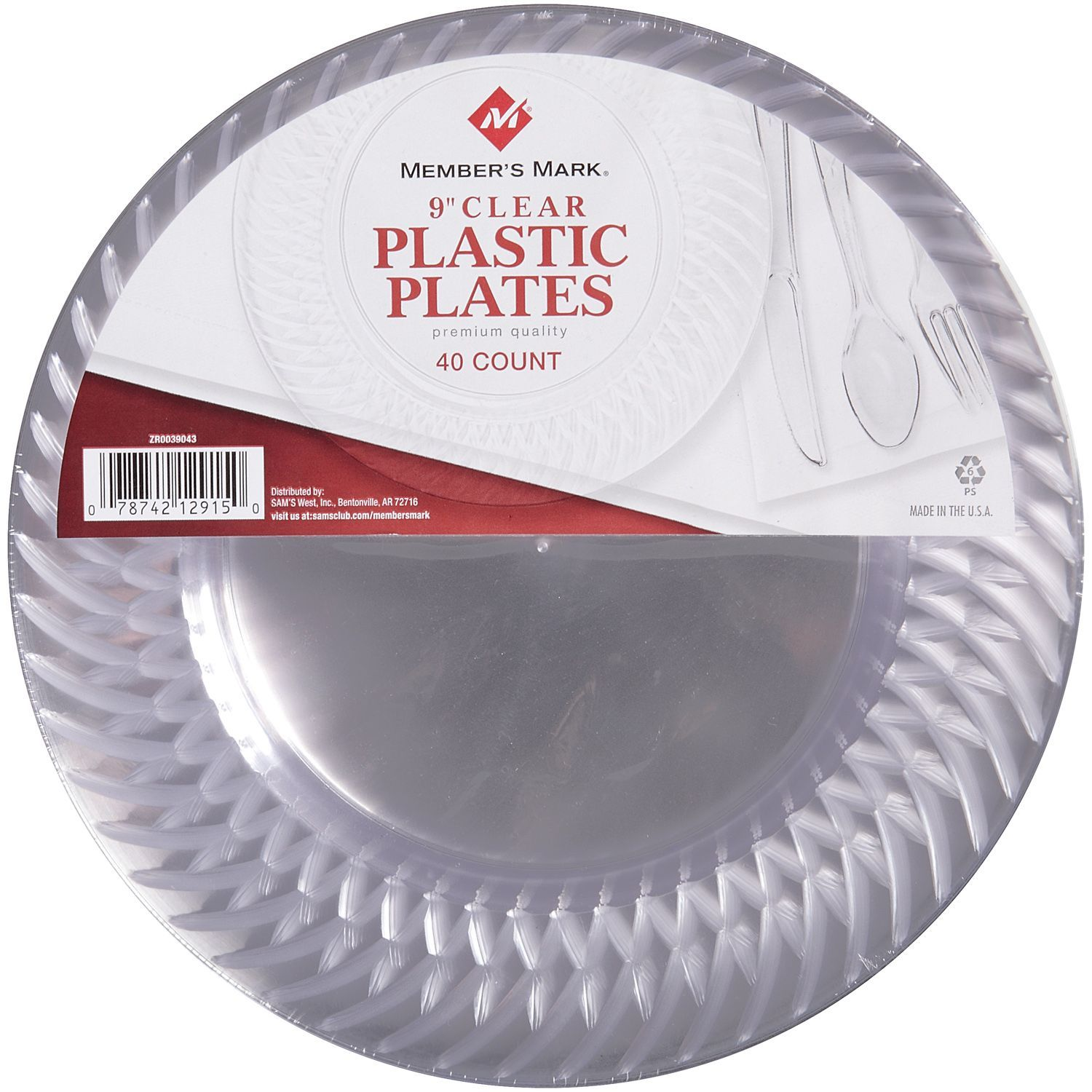 Members Mark Clear Plastic Plates 9 40 ct Sams Club