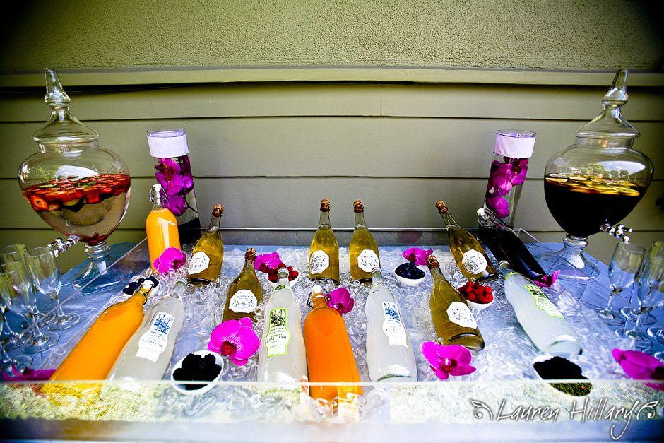 purple themed bridal shower%0A Champagnebridalshowerbrunchvibrantpurpleorchidsjuices