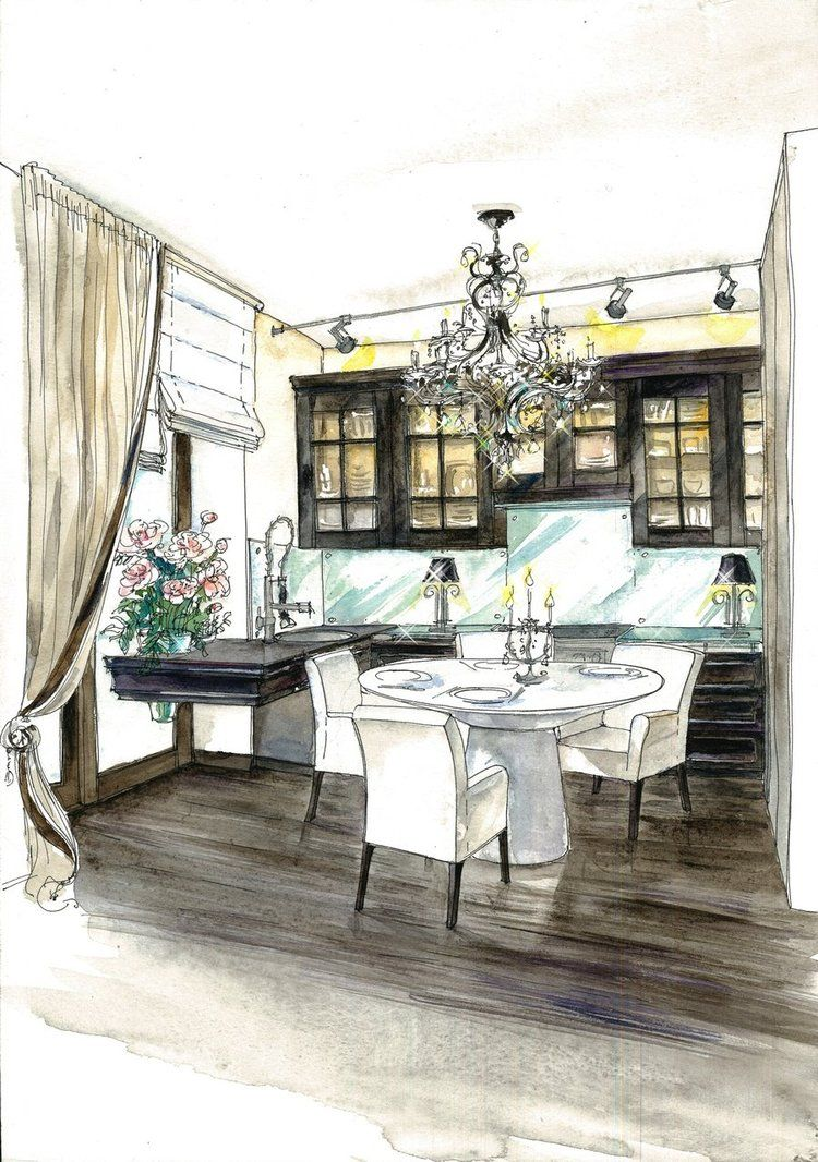 Bedroom Drawing: Interior Design Color Sketches - Google Search
