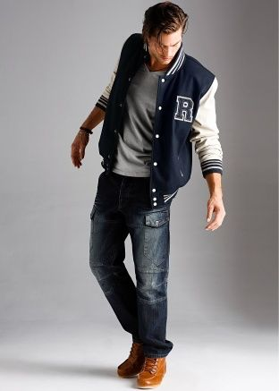 Baseball-jacket Style | fashion for him | Pinterest | Male fashion ...