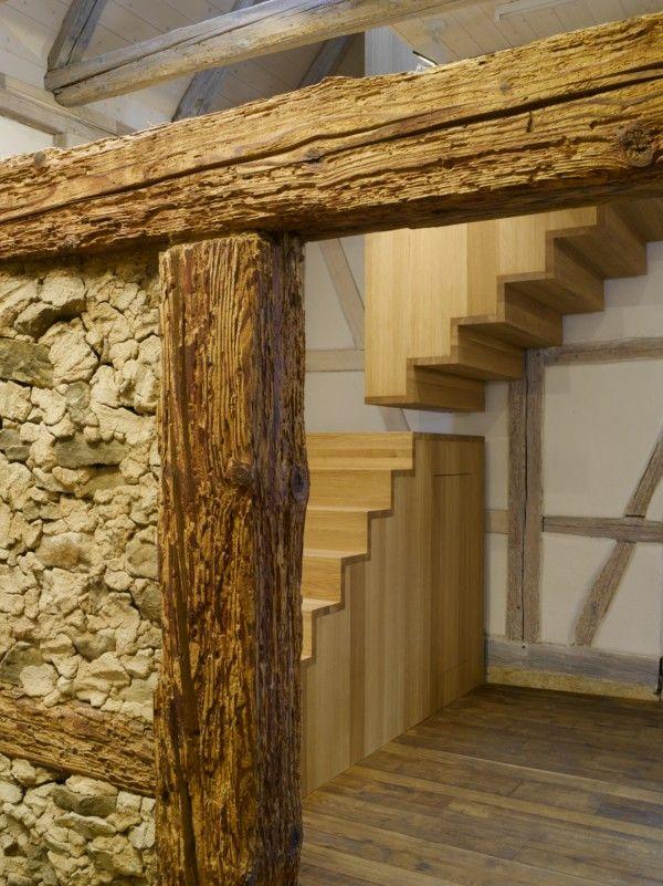 Imagen relacionada Western, rustic Pinterest Staircases - muros divisorios de madera