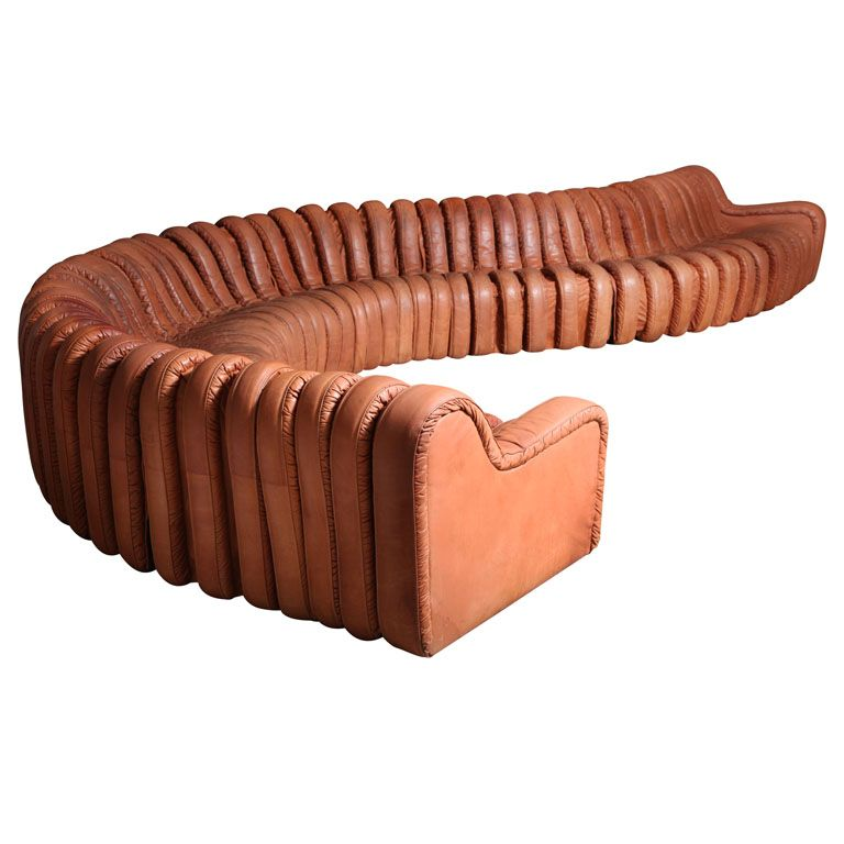 1stdibs Non Stop Leather Sofa In The Manner Of De Sede Leather Sofa Unique Sofas The Big Comfy Couch