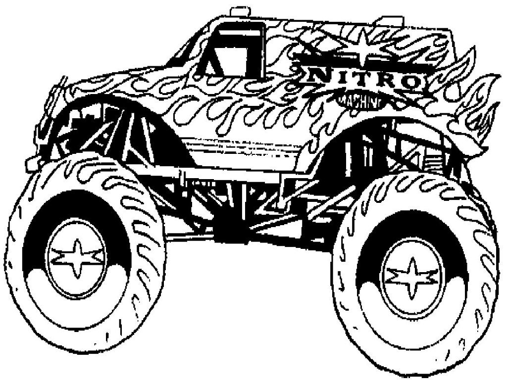 printable monster truck coloring pages for kids  http