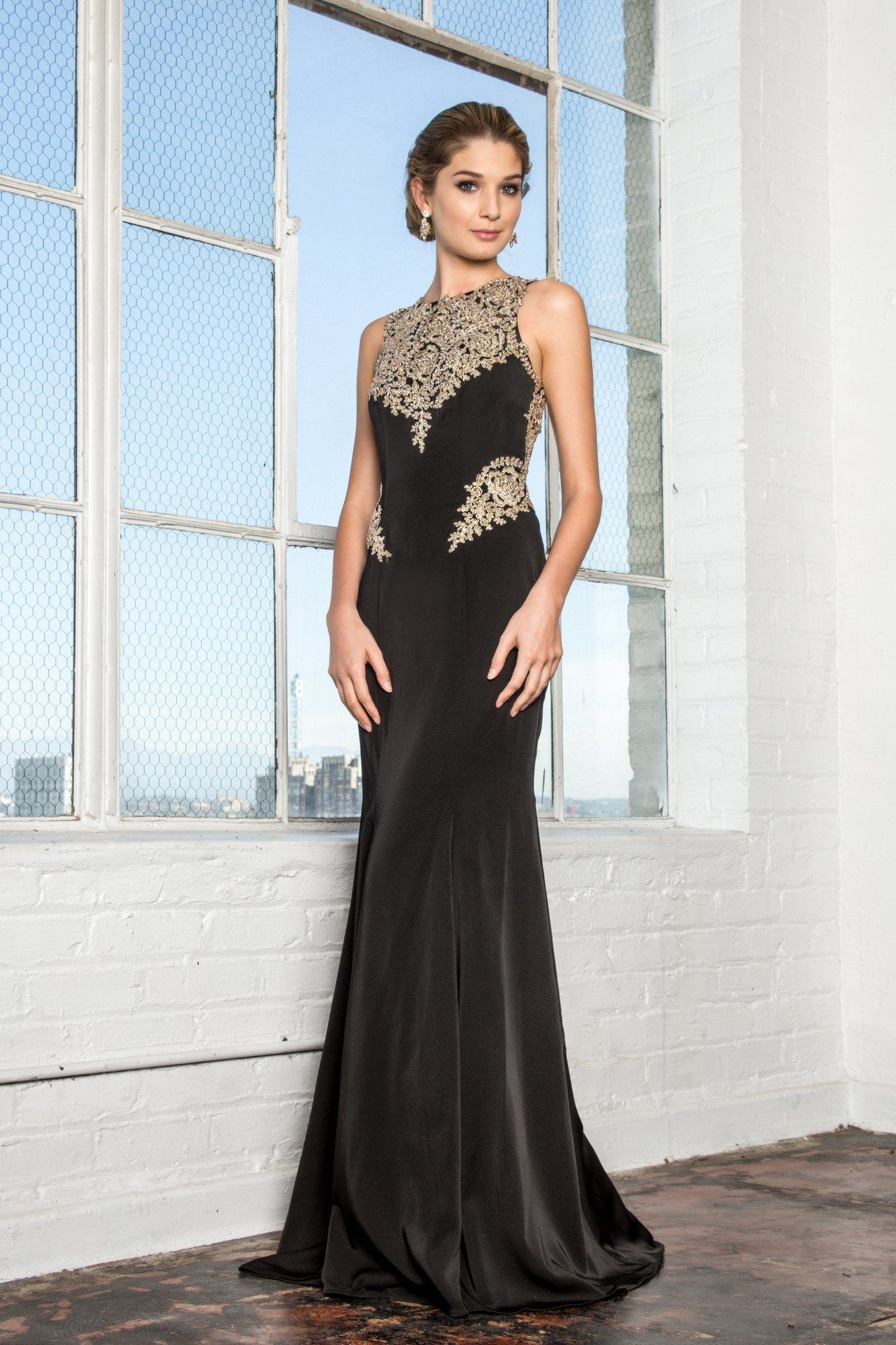 Black and gold prom dress gls products pinterest gold