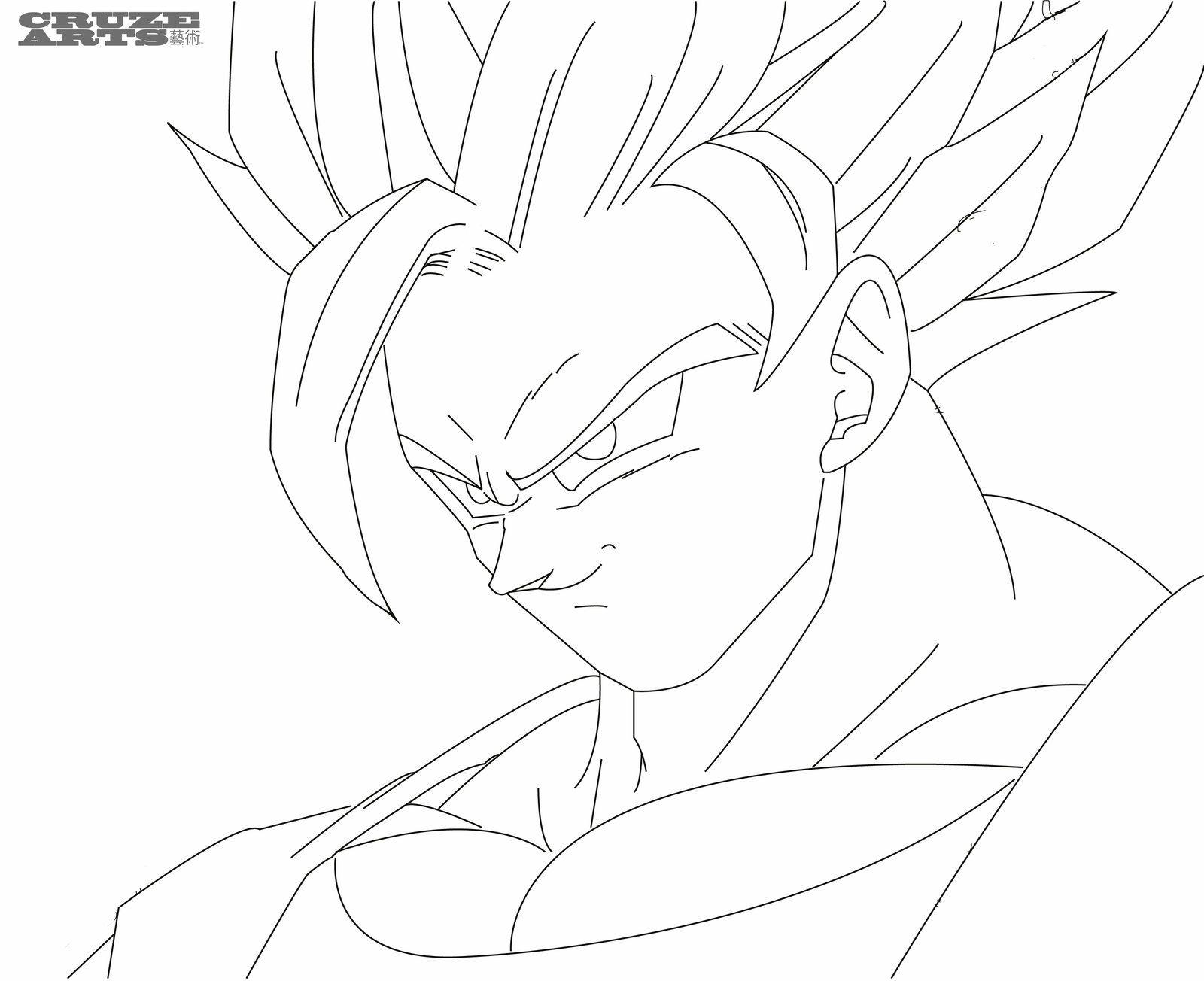 Super Saiyan Goku Coloring Pages | super saiyan goku coloring pages ...