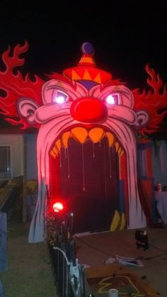 Fun House Clown Door Clowns Halloween Decorations Halloween Displays Halloween Circus