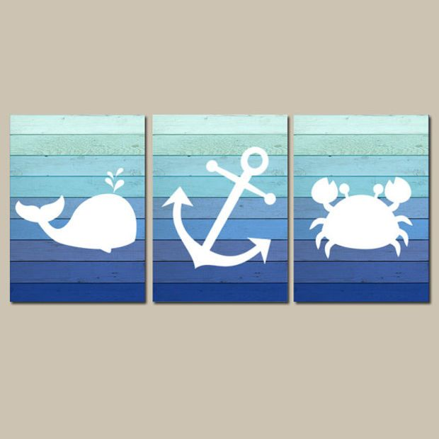 Nautical Wall Art Canvas Or Prints For Es Room Nautical