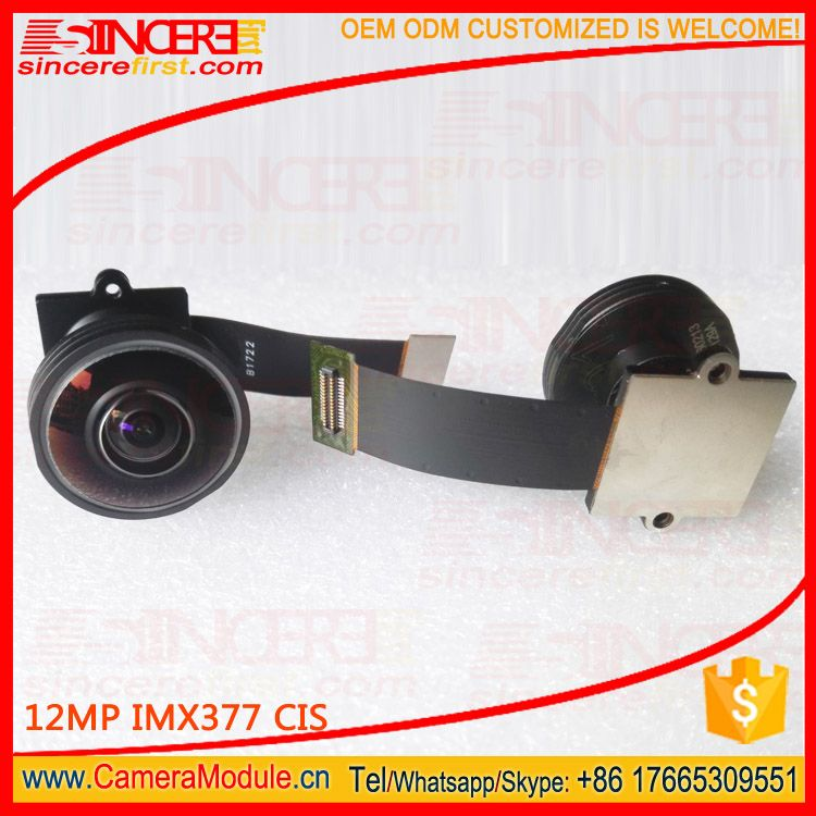 190 degree Wide angle fisheye camera 12MP 4K Sony imx377 camera