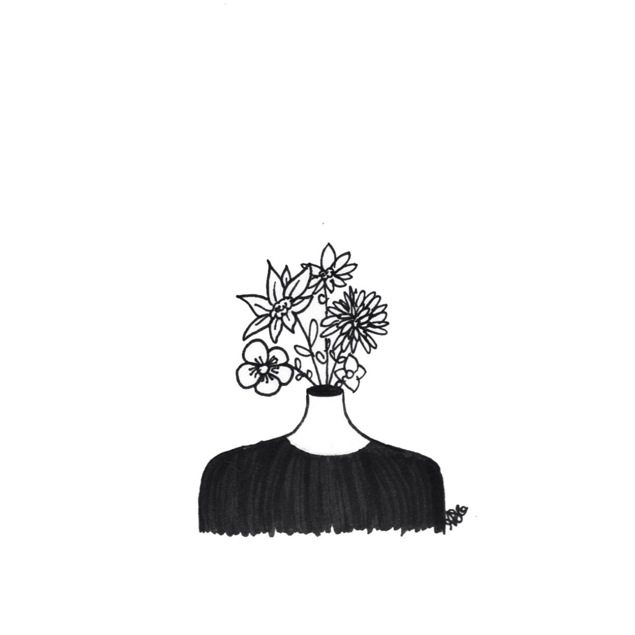 Flower Head Line Drawing : Voyager interesting pinterest desenhos nanquim