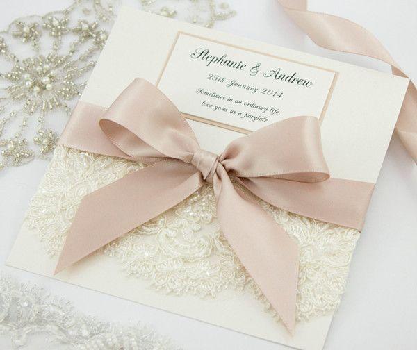 7 Diy Gastgeschenkideen Für Die Hochzeit Myprintcard: DIY Vintage Spitze Einladungskarten Für Hochzeit