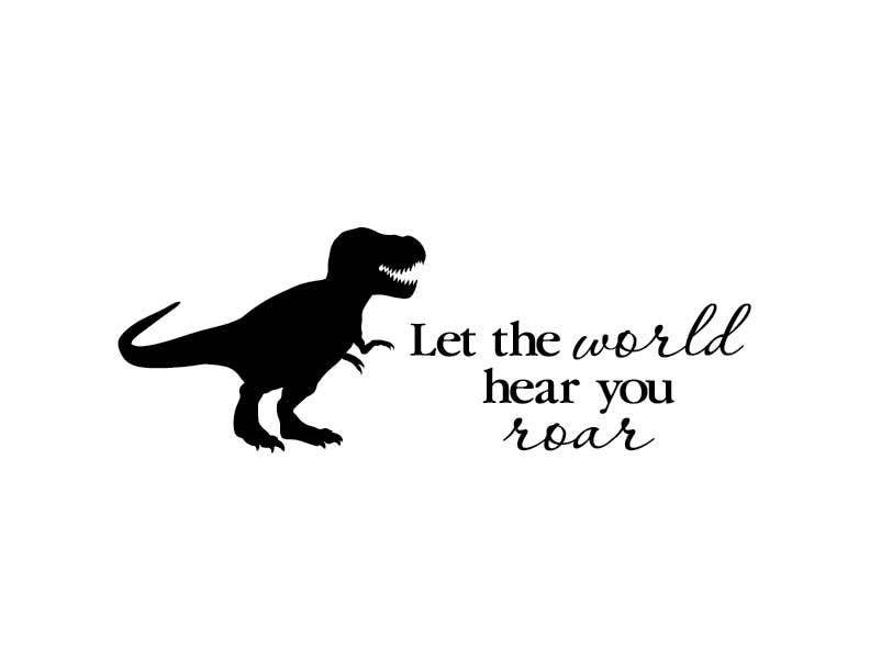 Let the world hear you roar dinosaur t-rex wall decal | Etsy | Kids wall  decals, Nursery decals, Nursery monogram