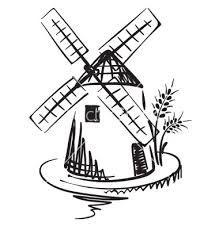 Free Windmill Drawings Google Search Moinhos De Vento Moinho