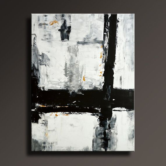 54 Large Original Abstract Painting Black White Gray Gold Painting Canvas Art Contemporary Modern Painting Wall Art Ab46i5 Abstract Painting Canvas Art Painting Contemporary Abstract Modern Art