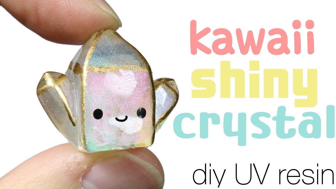 How to diy kawaiicute shiny crystal uv resin tutorial
