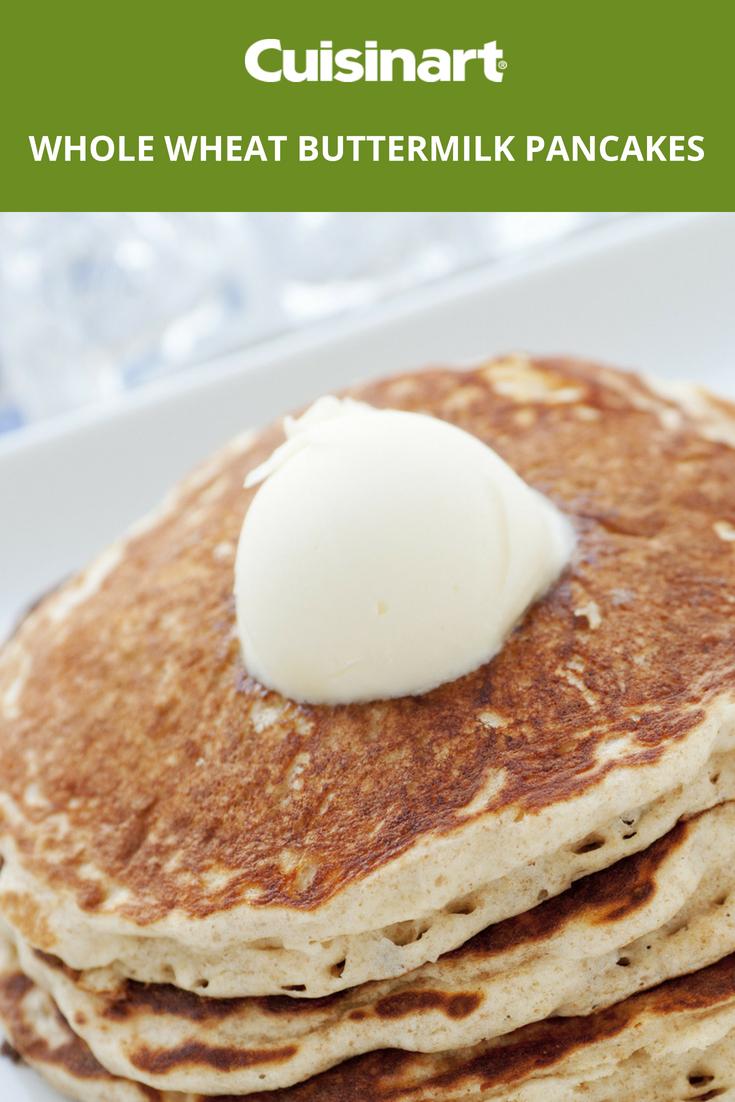 Whole Wheat Buttermilk Pancakes Pancakes Wholewheat Breakfast Buttermilk Pancakes Pancake Recipe Buttermilk Baking Recipes