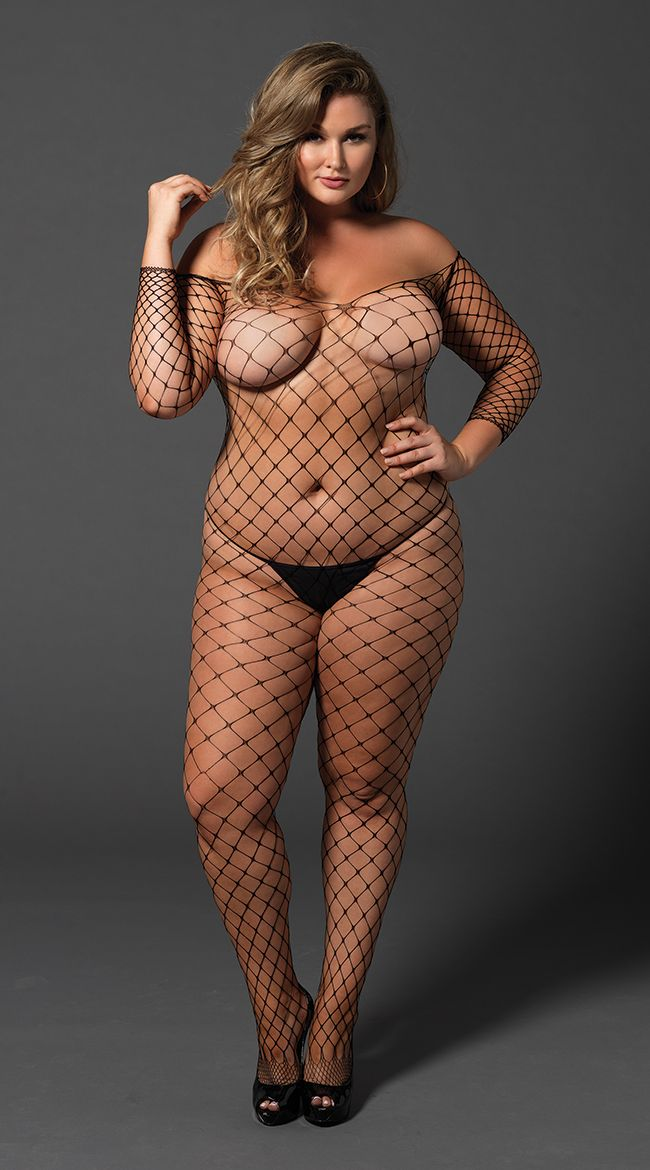 86a9177d4 Plus Size Fence Net Bodystocking