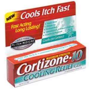 Cortizone 10 Maximum Strength Fast Itch Relief Cooling Gel 1 Oz