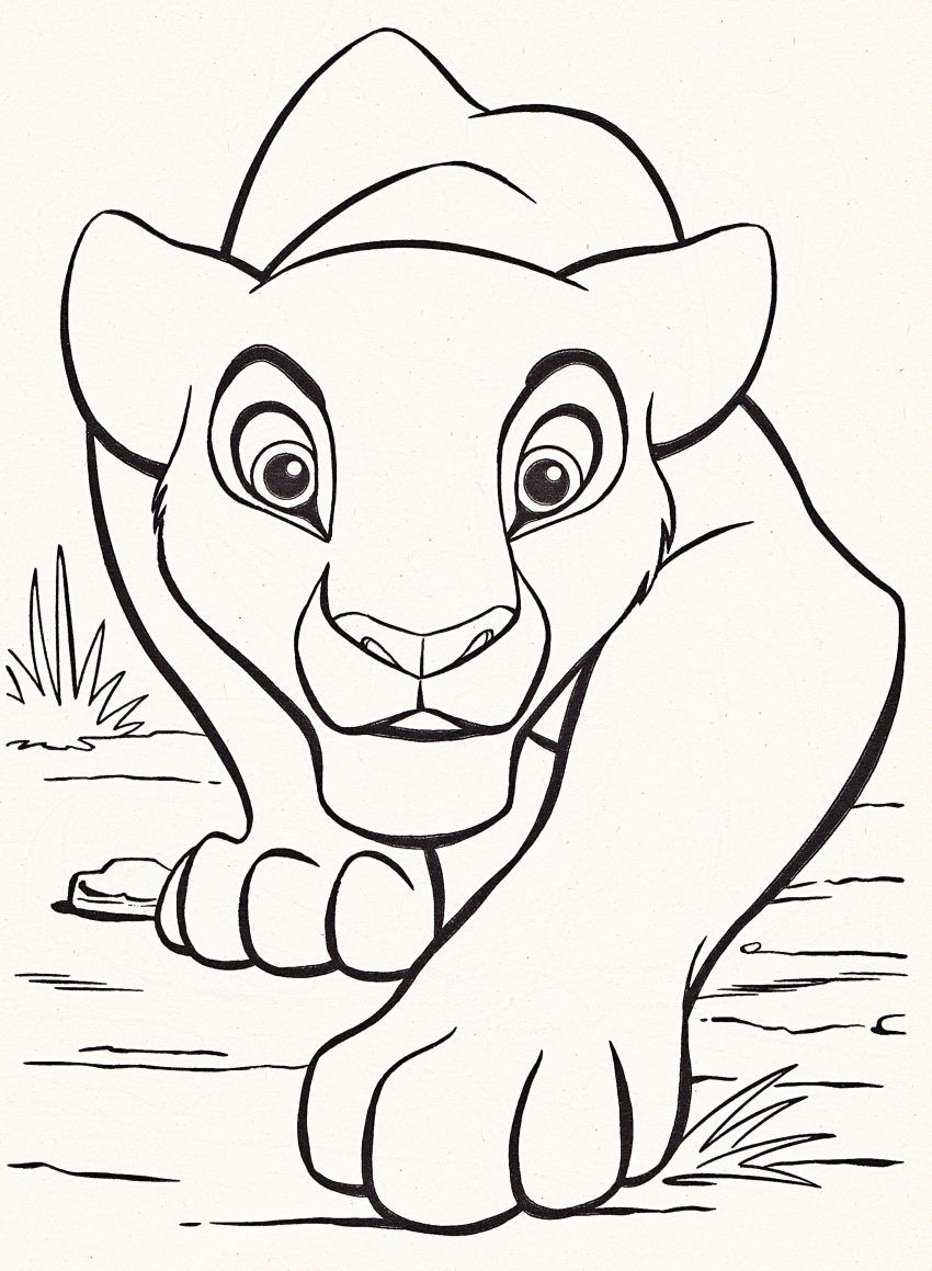 Pin By Megan Flint On Inspiration Lion King Drawings Lion Coloring Pages Disney Coloring Pages