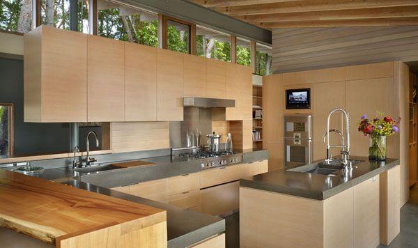 Suncrest Residence On Beautiful Orcas Island Contemporary Kitchen Kitchen Design Beautiful Kitchens