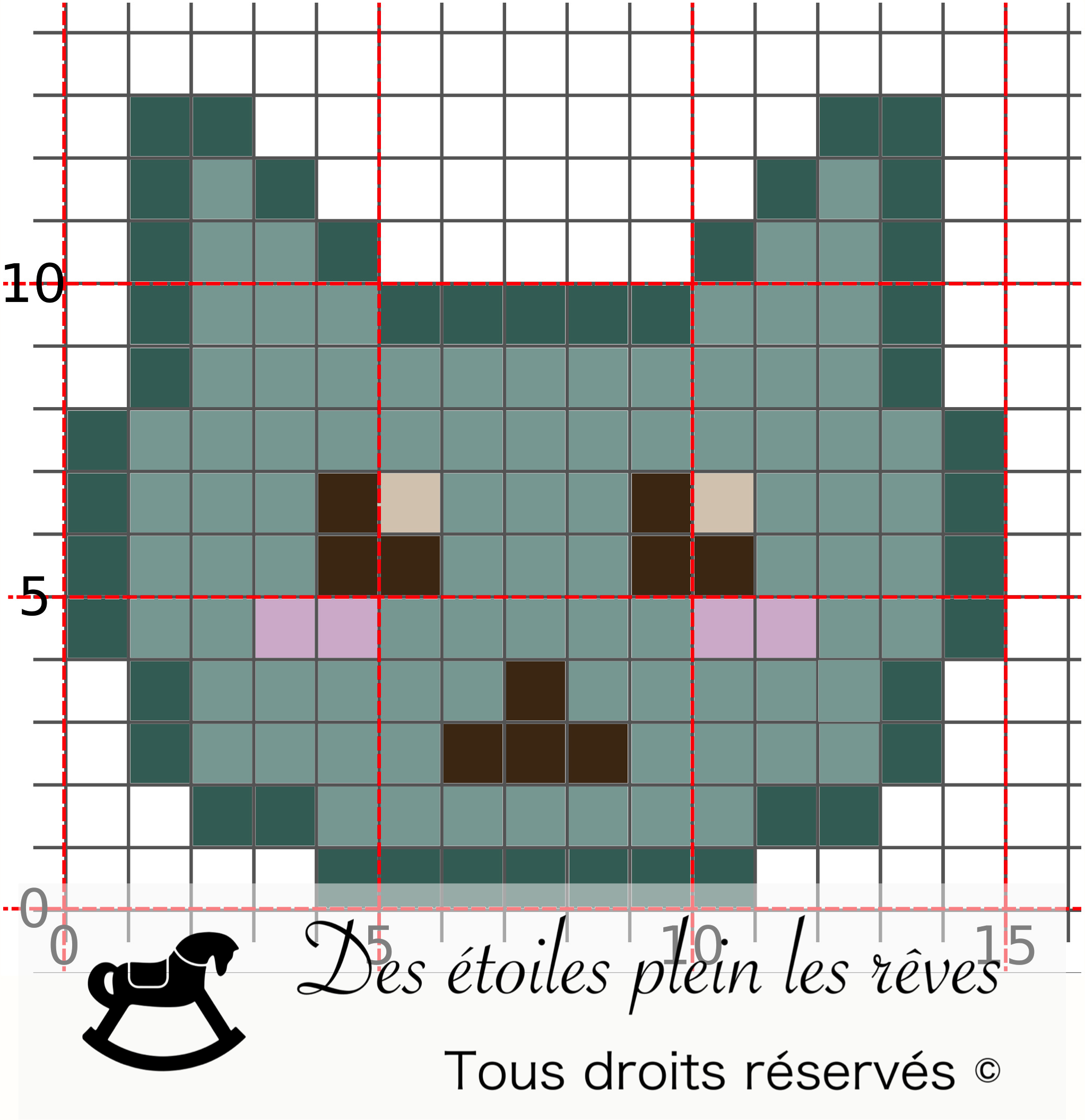 Chat Kawaii Pixel Art Point De Croix Kawaii Pixel Art Fille Point De Croix
