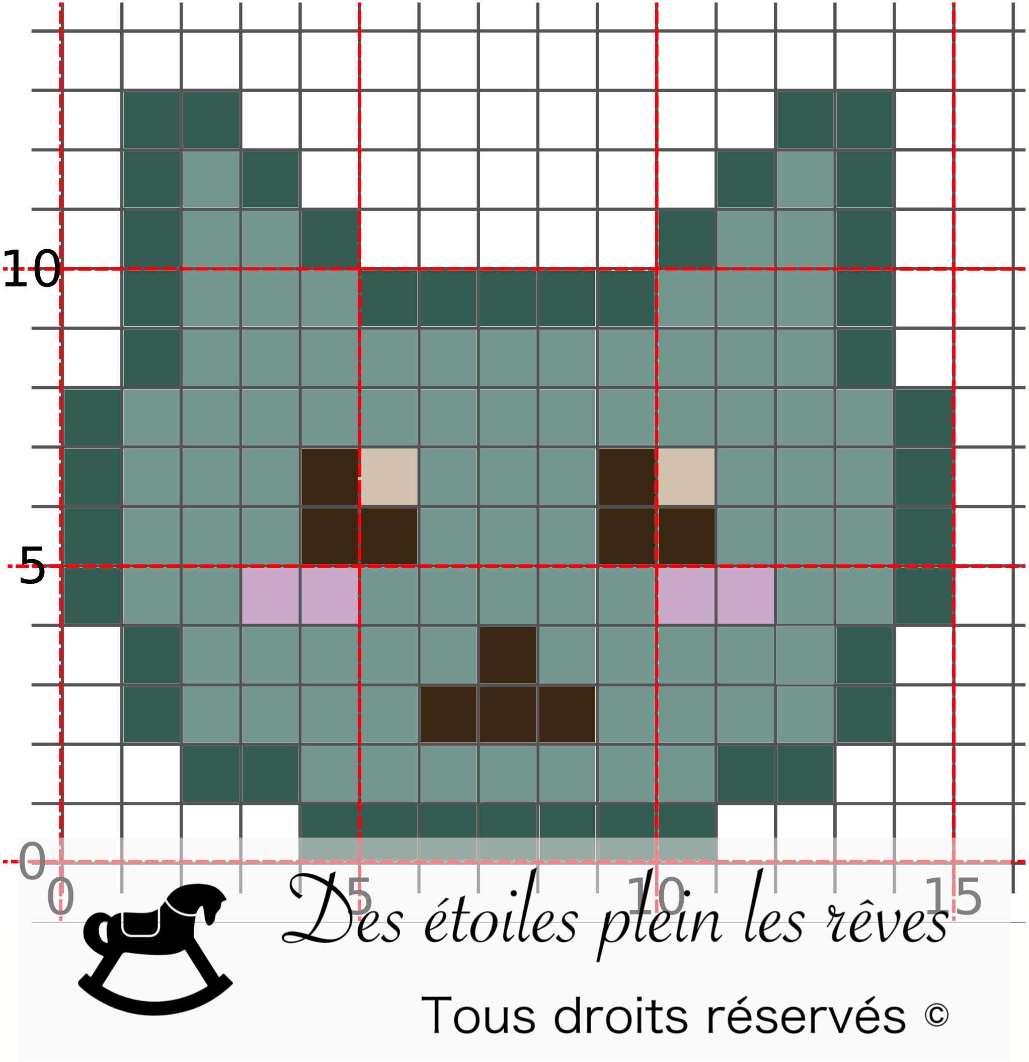 Dessin Pixel Tete De Chat
