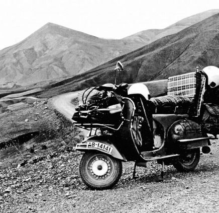 Grand Trunk Vespa style. I hope the motor has been very recently serviced not to mention the brakes.