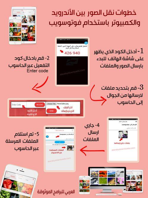 تحميل برنامج فوتو سويب Fotoswipe لتبادل ومشاركة الصور والملفات بين الكمبيوتر والجوال Coding