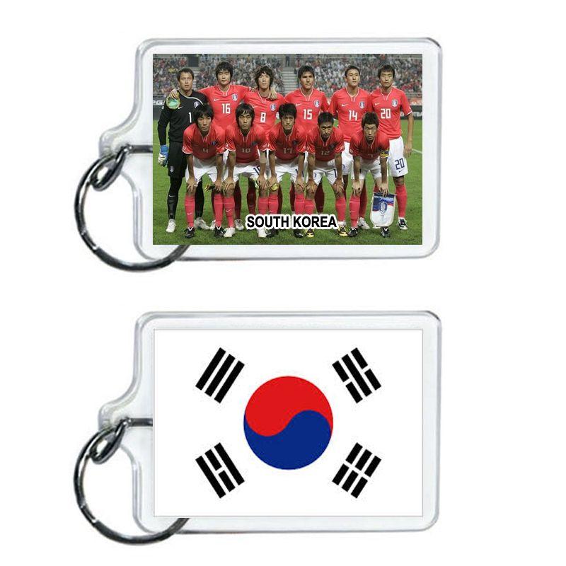 South Korea Soccer Flag 2014 Team Player Acrylic Keychain 2 x 1 | www.balligifts.com