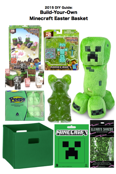 2015 diy create guide ideas to build your own minecraft easter 2015 diy create guide ideas to build your own minecraft easter gift basket negle Gallery