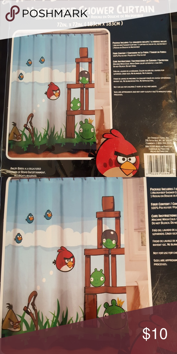 Angry Birds Shower Curtain NWT