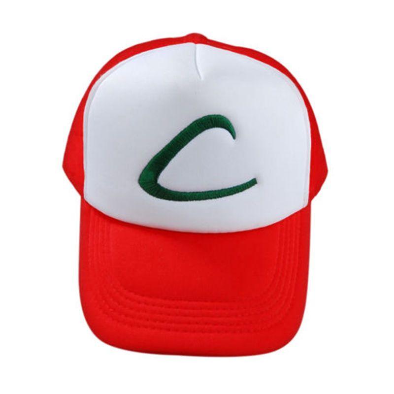 Hot Pocket Monster Pokemon Trainer Ash Ketchum Baseball Cap Cosplay ...