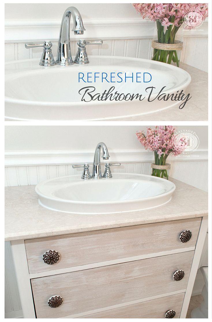 Furniture Stripping – Refreshed Bathroom Vanity Makeover