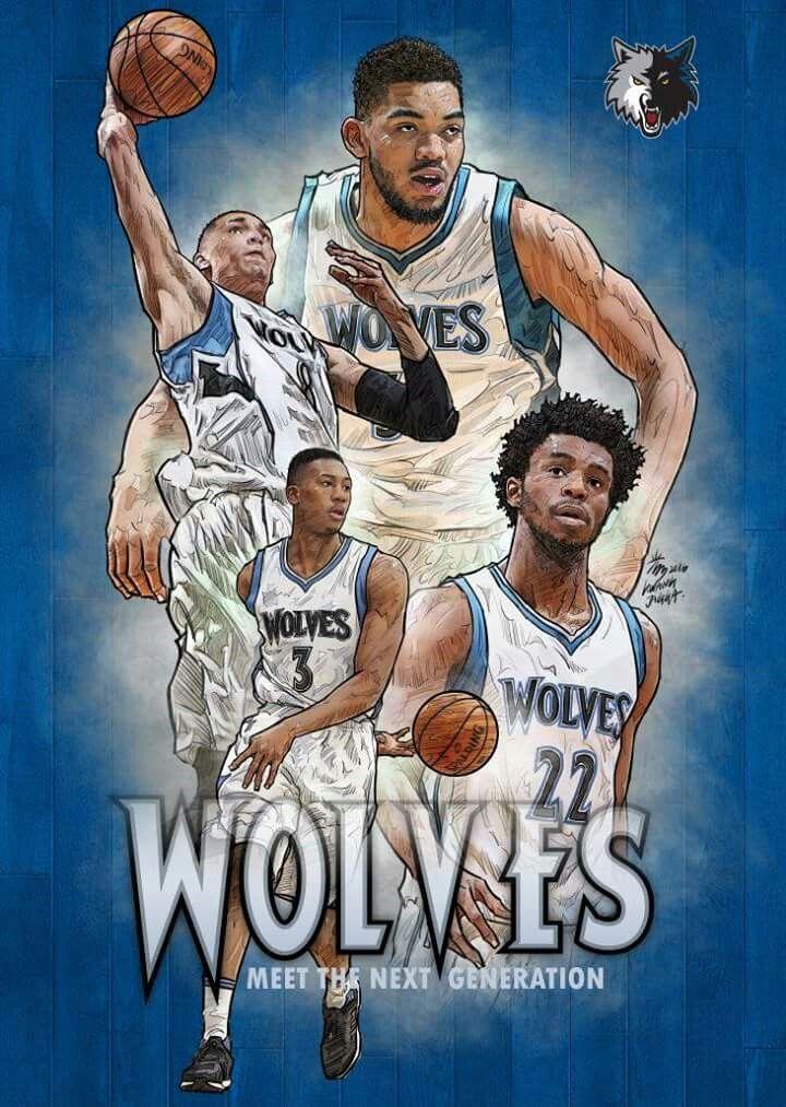 Minnesota Timberwolves Nba Basketball Art Nba Art Nba Artwork