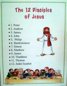 bible fun for kids the 12 disciples of jesus