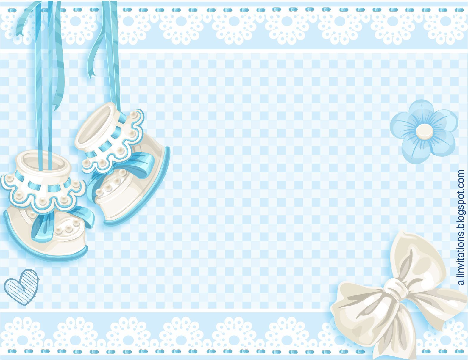 Plantilla invitacion baby shower zapatitos niño | nombres ...