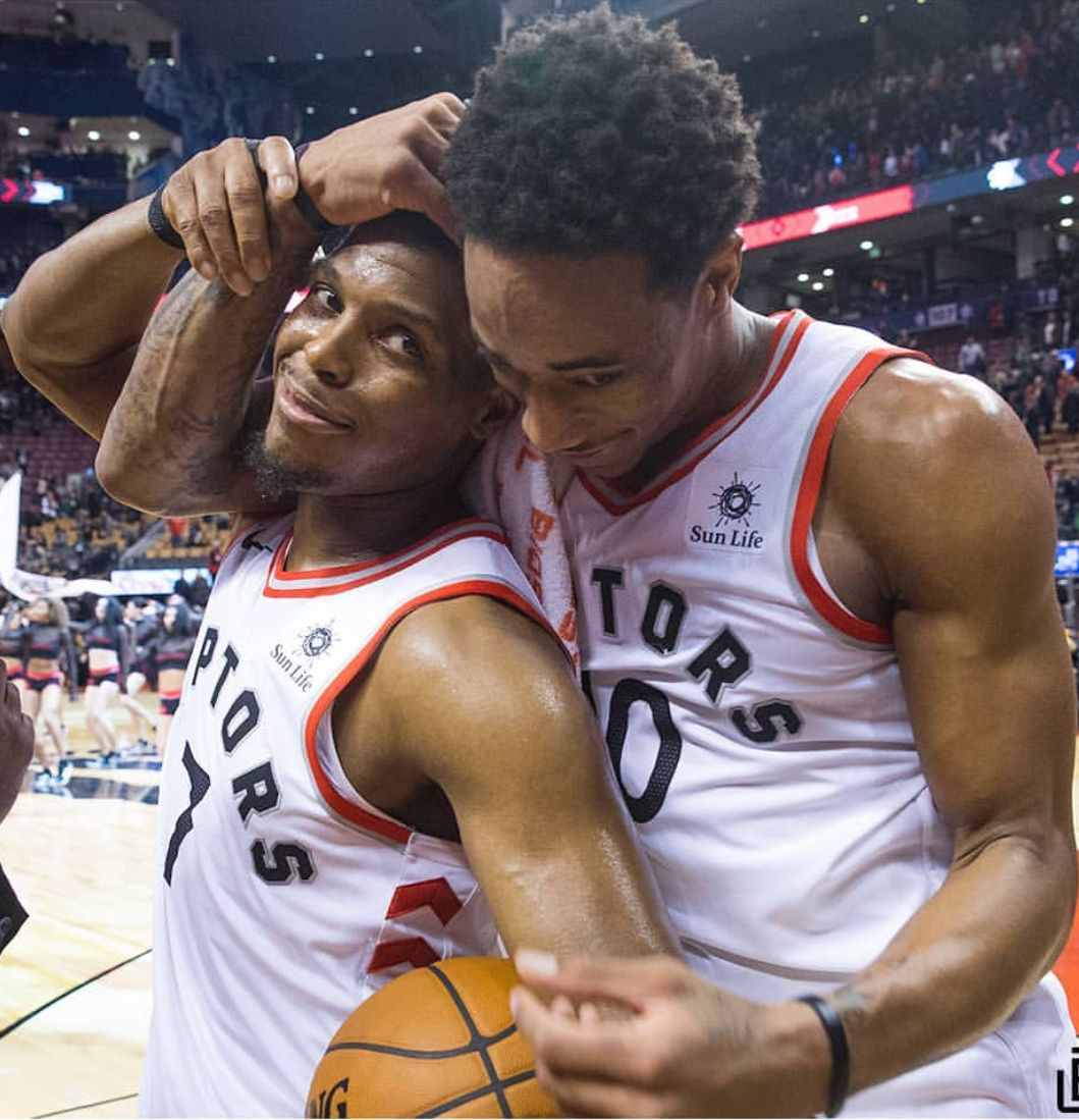 Image result for derozan and lowry laughing