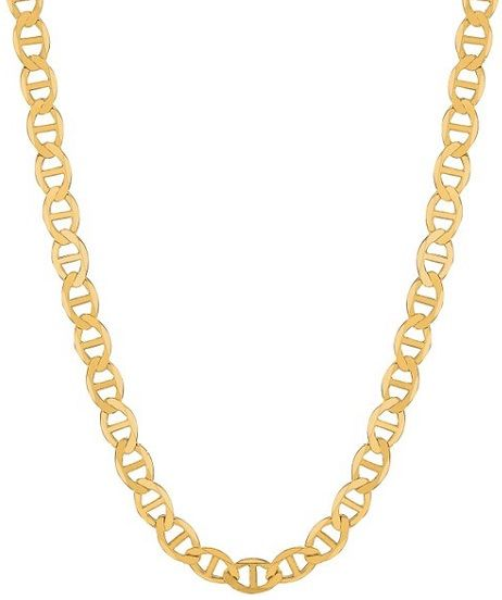 64aca8414 #Jewelry #Necklace 14k Solid Yellow Gold Anchor Mariner Chain necklace 4.5  Mm 8.3 Grams 20 Inches