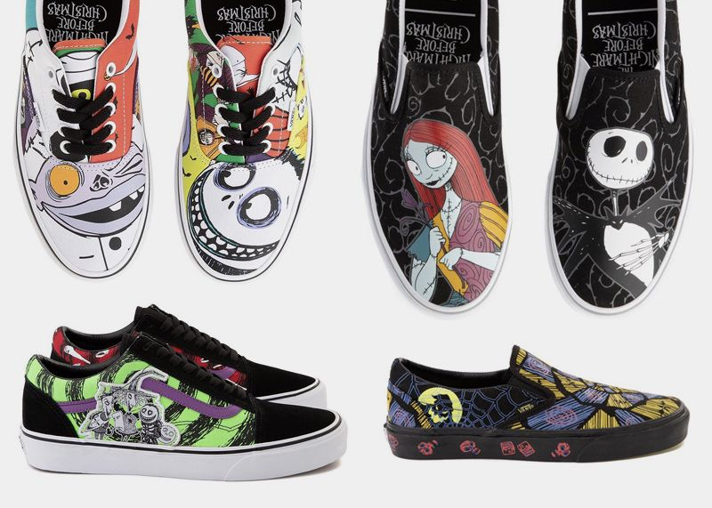Vans X Disney The Night Before Christmas The Vans X Disney The Nightmare Before Christmas Collection Dropped This Week Halloween Shoes Disney Shoes Vans