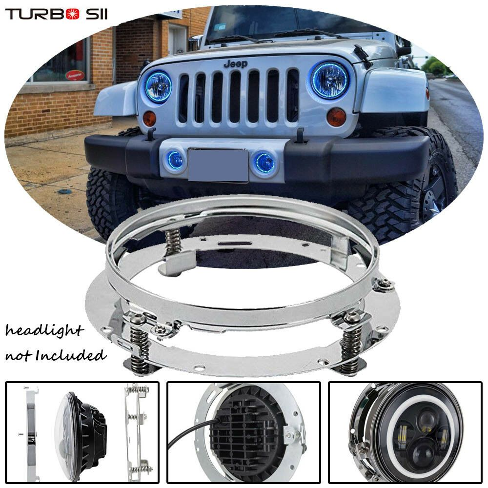hight resolution of fits any harley davidson models with 7 headlight such as 1x 7 round led headlight mounting ring help to fix led headlight firmly on fairing or nacelle