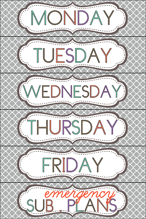photo about Free Printable Classroom Labels named set up weekly papers - cost-free printable drawer labels