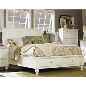 Cambridge King Size Bed With Sleigh Headboard Amp Drawer Storage Footboard By Aspenhome At Ahfa