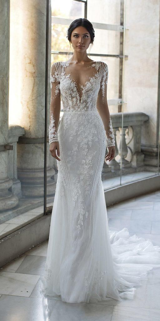 21 vestidos de novia ilusión de manga larga que te gustarán | Guía de vestidos de novia  – Boda fotos